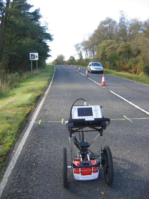 GPR - Ground penetrating radar surveys using the SIR3000. Pavement evaluation, void & cavity location
